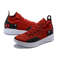 кд мужская обувь белая оптовых-Новый дизайнер обувь kd 11 баскетбольная обувь Кевин Дюрант 11s Zoom мужские работает спортивная обувь белый роскошный KD EP элитные низкие спортивные кроссовки