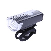 Wholesale High Power Led Bike Lights - 300LM 3 Modes Cycling Bicycle LED Lamp USB Rechargeable Bike Front Light Waterproof High Power Head Flashlight Use for Handlebar