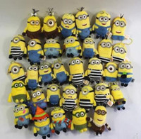 Wholesale minions keychains for sale - Group buy Fashioon D Cartoon Minion KeyChain Small Yellow Man Key Chain Ring person only
