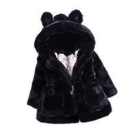Wholesale pageant jacket girl online - New Autumn Winter Baby Girls Clothes Faux Fur Fleece Coat Pageant Warm Cotton Padded Clothes Jacket Baby Hooded Jacket Outerwear