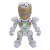 robot flash usb achat en gros de-dessin animé haut-parleurs bluetooth avec flash LED lumière bras déformé