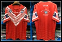 Wholesale moisture testing - 2018 2019 Tonga Pacific Test Jersey Rugby League shirt TONGA home Rugby jerseys Shirts s-5XL