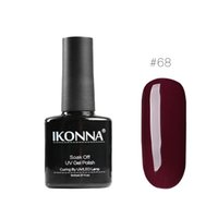 roter rosa nagellack großhandel-Ikonna # 68 8 Ml Wein Roter Nagellack