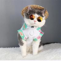 dog sunglasses al por mayor-Ropa ocular para gato Mascotas Gafas de sol Gafas para perros pequeños Gafas para gatos Accesorios para perros Accesorios para gatos Suministros para mascotas Ropa para mascotas Decoración