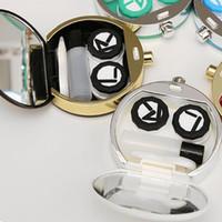 boîtes à bouteilles de parfum achat en gros de-Bouteilles de parfum nouvelles Coffret de lentilles de contact Coffret pour lunettes Accessoires Coussin de lentille de contact Coffret de lunettes 2 couleurs