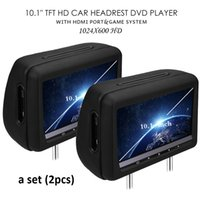 Wholesale mp3 player screen gray for sale - Pair Universal inch Car Dvd Dual Headrest Screen Player Black Hdmi FHD P USB SD FM IR Touch Key Game