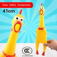Wholesale Cock Big - Big Size 41cm Screaming Chicken Squeeze Sound Toy Pets Toy Product Chook Toys Shrilling Chicken Cock Decompression Tool Funny Gadgets