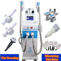 Wholesale laser cellulite - 3 handles Cryolipolysis machine fat freeze slimming machine lipo laser cavitation cellulite removal 2 cryo handles can work together