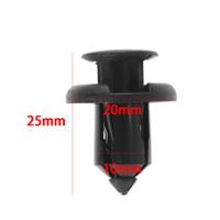 stoßfänger-clip-push-typ großhandel-20 STÜCKE NEUE 10mm Kunststoff Push Typ Niet Halter Stoßstange Push Clips Verschluss Stoßstange Pin Clips für Auto