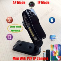 Wholesale Wifi Ip Web Camera - Mini WiFi P2P IP DV Camera Camcorder Web Cam Wireless Phone Sport Vehicle Baby Monitor MD81S Motion Video Record TF SD Card