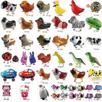 Wholesale 38 Styles High Quality Walking Animal Balloons Inflatable Aluminum Walking Pet Balloon Christmas Party Decoration Children Toys