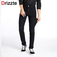 Wholesale size 44 skinny jeans online - Drizzte Men Classic Black Denim  Jeans Stretch Slim Fit 8fab24e60