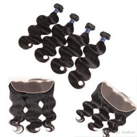 Wholesale peruvian closure for sale for sale - Group buy Malaysian Virgin Hair Body Wave Human Hair Bundle Lace Closure Bundles with Frontal Closure Hot Sale Weaves For Black Women