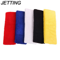 Wholesale Tennis Balls Elastic - HOT Outdoor Sports Ball Games Tennis Sweatbands Forehead Head Hair Sweat Band Elastic Cloth Cotton GYM Yoga Fitness HeadBand