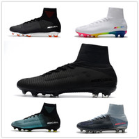 Wholesale cr7 football shoes - 2018 Mercurial Superfly V Ronalro FG CR7 Cristiano Ronaldo Men Football Boots Soccer Boots Men Soccer Shoes