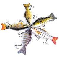 çok bölümlü lures toptan satış-Segment Çok Eklemli Balıkçılık Lure Minnow Krank Yemler Bas Hayat gibi Swimbait Klasik Çok Bölüm BBA304