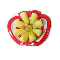 Wholesale kitchen apple slicers resale online - Thickening Abs Slicer Stainless Steel Knife Apple Pear Easy Slicers Corers Kitchen Gadget Green Red Vegetable Tools Durable yc ff