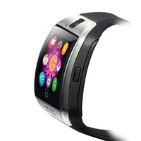 cep telefonu bluetooth tf toptan satış-Q18 Akıllı İzle Bluetooth Smartwatch ile Kamera TF Sim Kart Yuvası NFC Android için Bağlantı Samsung Galaxy / Not ve IOS Akıllı Cep Telefonları