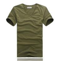 conception de broderie de cou d'hommes achat en gros de-O-cou Hip Hop T-shirt Hommes Urbain Kpop Broderie T-shirt Simple Conception Mens T-shirts Mâle Vêtements