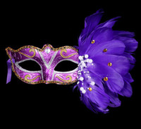Wholesale nightclub accessories - Sexy Lady Mask Eye Mask Nightclub Fashion Colorful Feather Party Masks Accessories For Masquerade Party Halloween Party Fancy Drop shipping