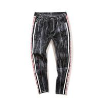 Wholesale cotton polyester pants men - Men's 2018 Spring Summer Return Camouflage jeans Male Patchwork Color Block Camo Cargo Fashion Ankle-Length Cotton Pants