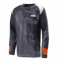 xc bisiklet toptan satış-2018 YENI Motosiklet Formalar Moto XC için ktm Motosiklet GP Dağ Bisikleti Motocross Jersey XC BMX DH MTB T Gömlek Giysileri