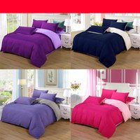 Wholesale taupe bedding online - Fashion Thicken Duvet Covers Pure Color Double Spell Bedding Sets Washable Grinding Hair Quilt Cover Top Quality zl BB