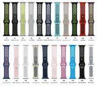 две тональные часы оптовых-50 шт. / Лот Новые двухцветные часы доступны в Apple, часы силиконовые IWatch Band DHL бесплатно