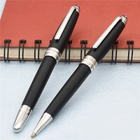 Wholesale fountain balls - Luxury MT 163 pen Matte Black Classique roller ball pen   ballpoint and fountain pens option mb pens for writing gift