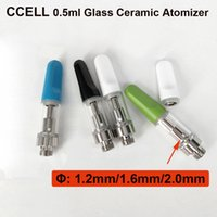 Wholesale Disposable Mouth - Print logo For 0.5ml Ceramic mouth CCELL Glass Ceramic Coil Cartridge 510 Atomizer disposable Vaporizer For Thick Oil VS 92A3 M6T05