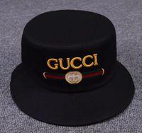 1424810306f Wholesale-Fashion Men Women Hot Unisex Bucket Hat Hunting Fishing Outdoor  Boonie Cap Unisex Summer Beach Wide Brim Hats Free Shipping H1696