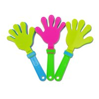 Wholesale Hand Clappers - Fashion colorful hand clapper Concert party cheering props children clap clap your hands small hands clapping toy