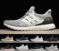 ultra-boost mens toptan satış-Yeni Ultra Boosts 4.0 Erkekler Koşu Ayakkabıları Ultraboost 3.0 5.0 Bayan Sneakers Triple S Eğitmenler Tasarımcı Ayakkabı
