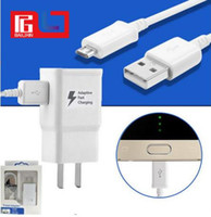 Wholesale Eu Uk Travel - Travel Wall Charger AAA+ 5V 2A 9V 1.67A Adaptive Fast Charging for Samsung S7 S8 With the LOGO Made in Vietnam.