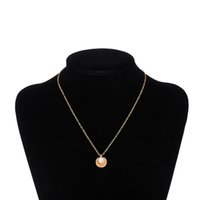 colgante amarillo de la diapositiva al por mayor-Hot fashion 10 unids collares pendientes de perlas de concha de aleación de oro amarillo blanco plateado colgante de 45 cm de longitud de cadena