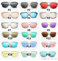 00bb4fdc74b9 Wholesale wholesale colorful optical frames online - Vintage Lady Rose Gold  Cat Eye Sunglasses Women Brand