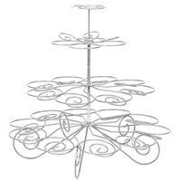 ingrosso stand di cupcake in metallo-Forniture per feste con supporto per espositori per cupcake in metallo a forma di 23 bicchieri di 23-Cup in metallo