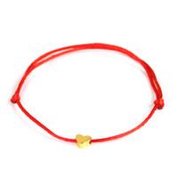 rote string armband herzen großhandel-2019 glück goldene kreuz herz armband für frauen kinder rote schnur einstellbar handgemachte armband diy schmuck