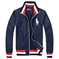 erkekler süveter ceketi toptan satış-Toptan 2018 sonbahar kış erkek ceket Hoodie spor kazak moda spor için spor ceket koşu spor ceketSports ceketler