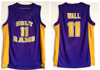 Wholesale team wall - Men Basketball 11 John Wall High School Jerseys Holy Rams Jersey Purple Team Breathable Pure Cotton For Sport Fans Excellent Quality