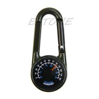 Wholesale Metal D Rings Wholesale - 1PC Multifunctional Hiking Metal D-Ring Mini Compass Thermometer Keychain-K624