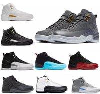 ingrosso pattini di pallacanestro di moda gamma-Mens Basketball Shoes Sneakers 12 12s palestra bianco Gamma taxi blu Baroni lupo grigio 2018 Atletic Sport shoes design autentico di moda