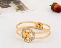 tejidos de moda para las mujeres al por mayor-Pulsera brazalete de pun ¢ o de la rota del metal de la aleación del oro / de la plata Las mujeres tejen la pulsera de moda de la joyería