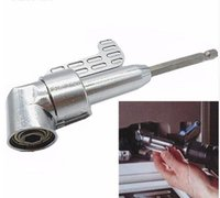 """Wholesale Construction Power Tools - 1 4"""" Magnetic Angle Bit Driver Adapter Screwdriver 360 Degree Adjustable Thumb Flange Off-Set Power Head Power Drill"""