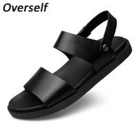 2017 estate uomini sandali scarpe da spiaggia traspirante Scarpe stile  retrò Gladiatore Fashion designer pantofole in pelle per gli uomini Zapatos de84e5b1414