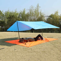 wasserdichte campingtaschen großhandel-Bluefield 300 * 220 Beach Camping Mat Matratze mit Aufbewahrungstasche Wasserdicht Feuchtigkeitsbeständige tragbare Picknickdecke für draußen
