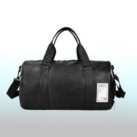 Wholesale leather luggage bags for men resale online - Wobag New Fashion Quality Travel Bag PU Leather Couple Travel Bags Hand Luggage For Men And Women Duffle Bag