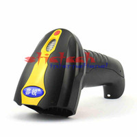 Wholesale Portable Barcode Readers - Wholesale- by dhl or ems 20pcs Portable Wireless Barcode Scanner bar Code Reader 2.4G 10m Wireless  USB Wired Laser Barcode Scanners