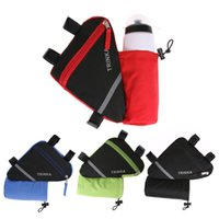 Wholesale bags water bottle pockets for sale - Group buy MTB Mountain Bicycle Front Frame Triangle Bag Cycling Top Tube Bag with Water Bottle Pocket Bicycle Accessories Without Bottle