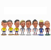 futebol de brinquedo venda por atacado-Bonecos de Futebol da Copa do mundo Lionel Messi Ronaldo Higuain Sneijder Neymar Figura Estátua 6,5 cm Altura Modelo Brinquedos de Futebol Bonecas Presente